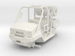 1/87 Scale MULE 4 Seater Short Bed in White Natural Versatile Plastic