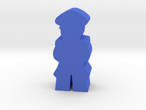 Game Piece, WW2 German Officer in Blue Processed Versatile Plastic