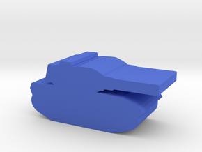 Game Piece, Militia Medium Tank in Blue Processed Versatile Plastic