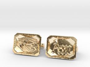 Eye Am 2 x 2-Finger Ring in 14k Gold Plated Brass