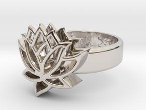 US9 Ring XXV: Tritium (Silver) in Platinum