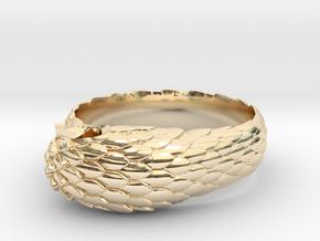 US6.5 Snake Ring: Tritium in 14K Yellow Gold
