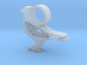 Pigeon Pendant  in Smooth Fine Detail Plastic