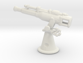 1/144 Scale 3in 23 Cal AA Gun in White Natural Versatile Plastic