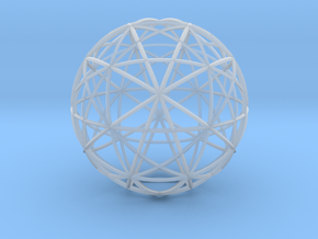 Icosahedron symmetry circles 16 in Smooth Fine Detail Plastic