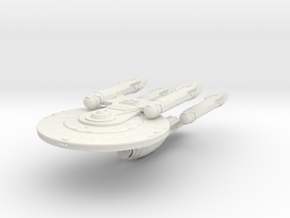 KittyHawk Class BattleCruiser in White Natural Versatile Plastic