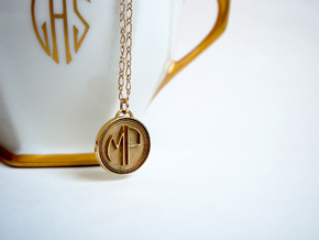 Deco Monogram in Polished Brass