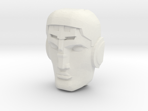 Avatar of the God-Gun Destro Face (Titans Return) in White Natural Versatile Plastic