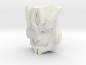 Cybertron Override Faceplate (Titans Return) in White Natural Versatile Plastic