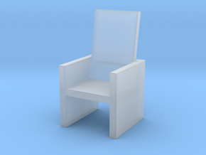 2x2 Cm Chair in Smooth Fine Detail Plastic