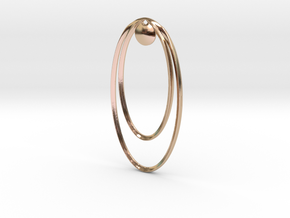 Focal Point Earring (small) in 14k Rose Gold Plated Brass