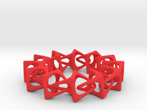 Artistic bracelet 001 in Red Processed Versatile Plastic