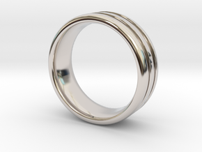 US10 O-Ring Ring: Glow (Plastic/Silver) in Rhodium Plated Brass