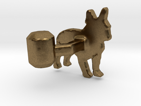 French Bulldog Cufflink in Natural Bronze