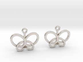Custom Logo Earrings in Rhodium Plated Brass