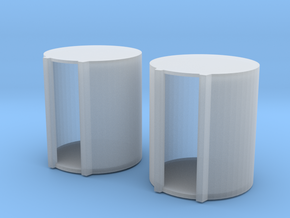 1 64 1000 Gallon Fuel Barrels X 2 in Smooth Fine Detail Plastic
