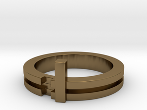 Stackable Ring Size 7 in Polished Bronze