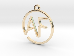 A & F Monogram Pendant in 14k Gold Plated Brass