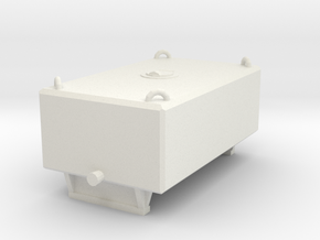 1/50th Heavy Haul push truck weight box tank in White Natural Versatile Plastic