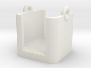 Polaroid Cube Plus Carrying Cradle Lens Protected in White Natural Versatile Plastic