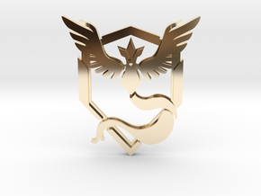 Team Mystic Pendant in 14k Gold Plated Brass