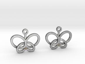 Custom Logo Earrings in Polished Silver