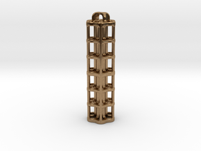 Tritium Lantern 5E (3x50mm/stacked 3x25mm Vials) in Natural Brass