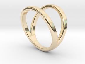 Split Ring Size 6 in 14k Gold Plated Brass