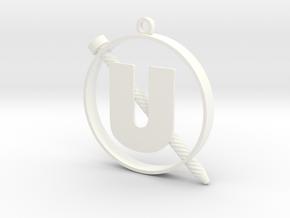 Screw-U in White Processed Versatile Plastic