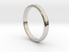 Ring Band Size 8 in Rhodium Plated Brass