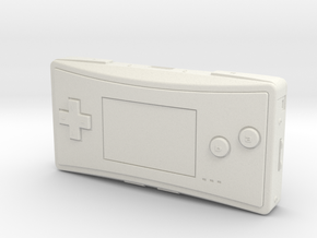 1:6 Nintendo Game Boy Micro (Black) in White Natural Versatile Plastic