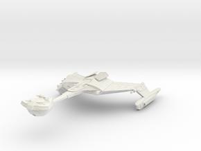 """Romulan D4 Class  Battlecruiser  5.4"""" in White Strong & Flexible"""