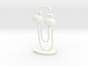 CLIPPY 2.0 (big) in White Processed Versatile Plastic