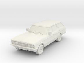 1:87 Cortina mk3 standard 4 door estate hollow in White Natural Versatile Plastic