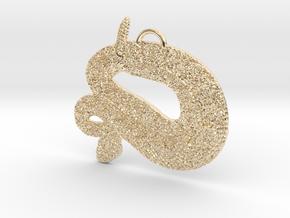 Rattler Pendant in 14K Yellow Gold
