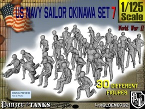 1/125 US Navy Okinawa Set 7 in Smooth Fine Detail Plastic