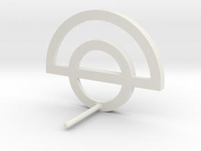 Circle Outline Earring in White Natural Versatile Plastic