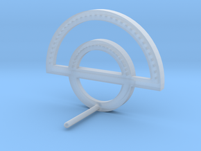 Circle Outline Earring in Smooth Fine Detail Plastic