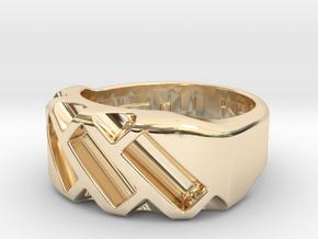 US4.5 Ring XVII: Tritium in 14K Yellow Gold