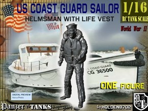 1/16 USCG Helmsman 2 in White Strong & Flexible