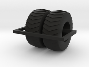 1/64 24.5 Puller 2000 pair of tires in Black Natural Versatile Plastic