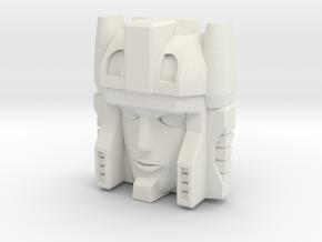 Minerva Faceplate (Titans Return) in White Natural Versatile Plastic