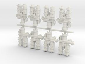 Airfix Harrier H Pieces (8) in White Natural Versatile Plastic