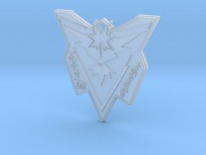 Pokemon Go Team Instinct Badge in Smooth Fine Detail Plastic