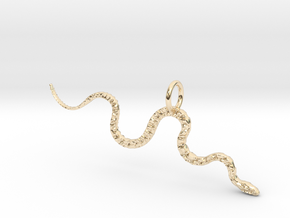 Slither Pendant in 14K Yellow Gold