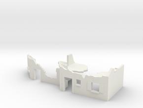 TT 1/120 street fighting / street ruins in White Natural Versatile Plastic