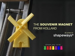 Magnet Windmill in Yellow Strong & Flexible Polished
