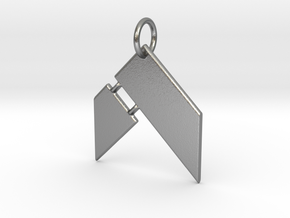 Hammer Fitness Keychain in Natural Silver