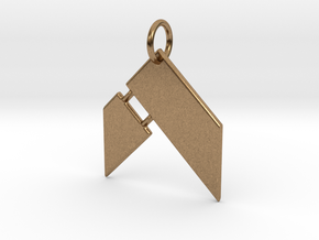 Hammer Fitness Keychain in Natural Brass