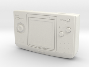 1:6 SNK NGPC (Blue) in White Natural Versatile Plastic